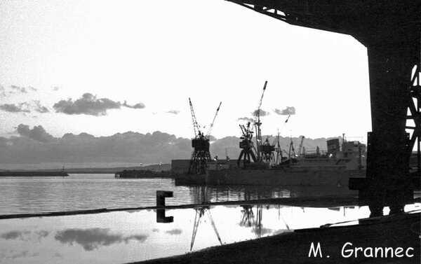 Coucher de soleil sur les quais de Brest