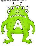 Les lettres monstres alphabet CP GS reconnaitre jeux