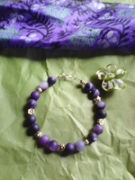 bracelet purple agate