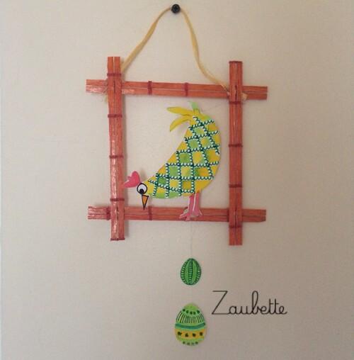 Poule Encadrée - Bricolage de Pâques