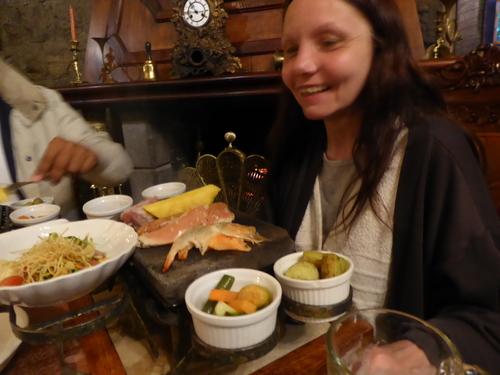Fin de la visite, vidéo et repas