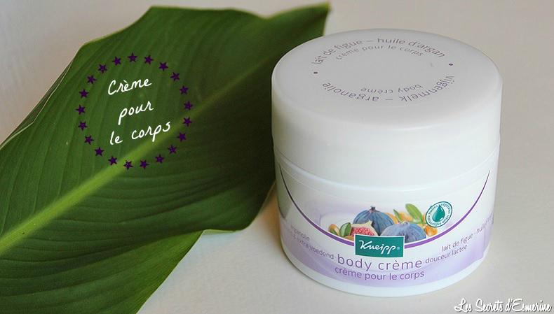 Crème pour le corps au lait de figue et huile d'argan