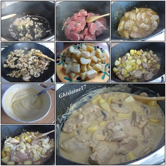 Filet mignon de porc à la crème moutardée