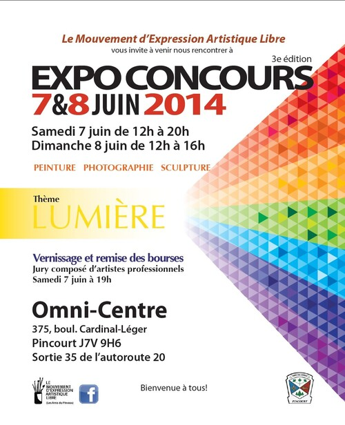 expo concours Mouvement d'expression artistique libre