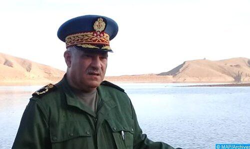 Le Général de Corps d'armée Mohamed Haramou, commandant la Gendarmerie Royale décoré par l'Espagne