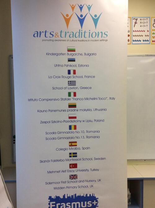 Meeting à Kaunas - Affiche partenaires et logo