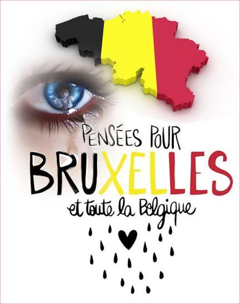 Deuil en Belgique... en hommage des attentats du 22 Mars...