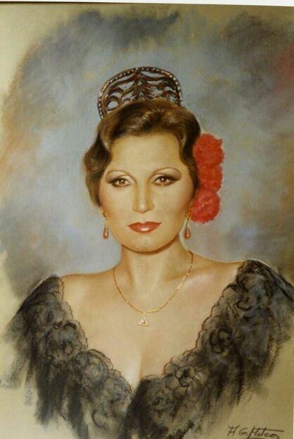Hecho por Pedro sepulveda   Bailaoras de flamenco, Estrellas de cine,  Imagen virgen del pilar