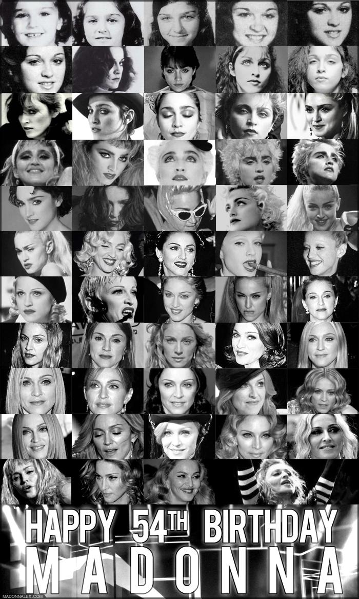 Happy 54 th Birthday Madonna 2012