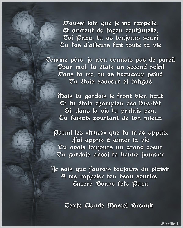 Carte Poème Pour La Fête De Pères Chez Mireille D