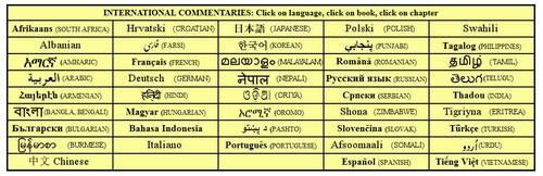 Commentaires bibliques gratuits en ligne multilingues