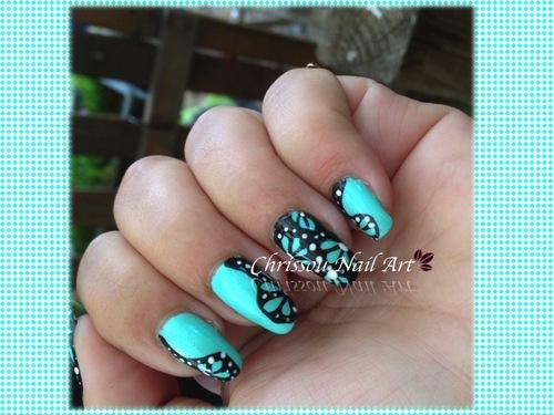 Abstrait de l'ilot Nail Art