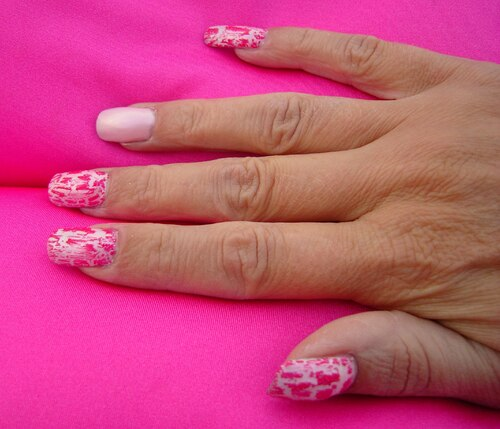 Swatch : Claire's - Pink crackle - n° 61229