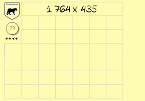 96 cartes auto-correctives Multiplication posée