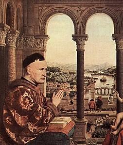Jan-van-Eyck-la-vierge-au-chancelier-Rolin---detail