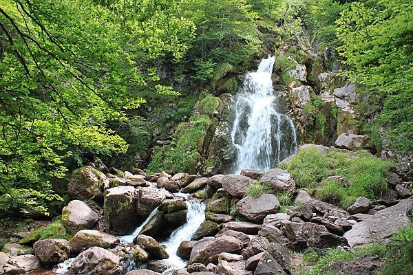 rando au lac d'Arlet-3- cascade d'Espélunguère