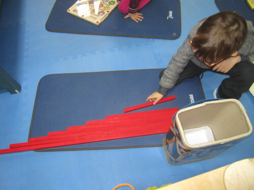 DIY Montessori Barres rouges