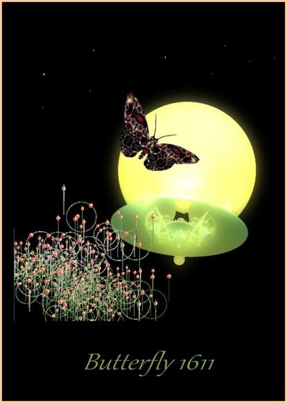 Butterfly 1611 Fractale Incendia par Joel Georges