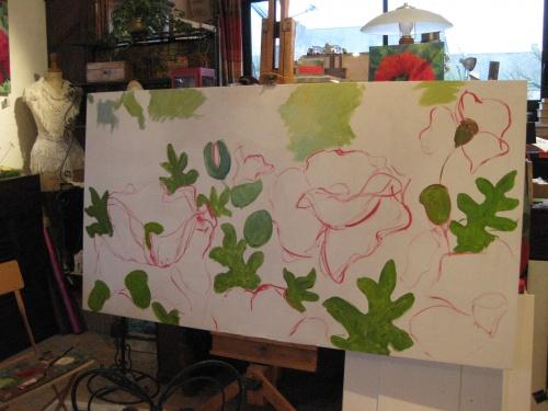 Naissance d'un tableau dans l'atelier