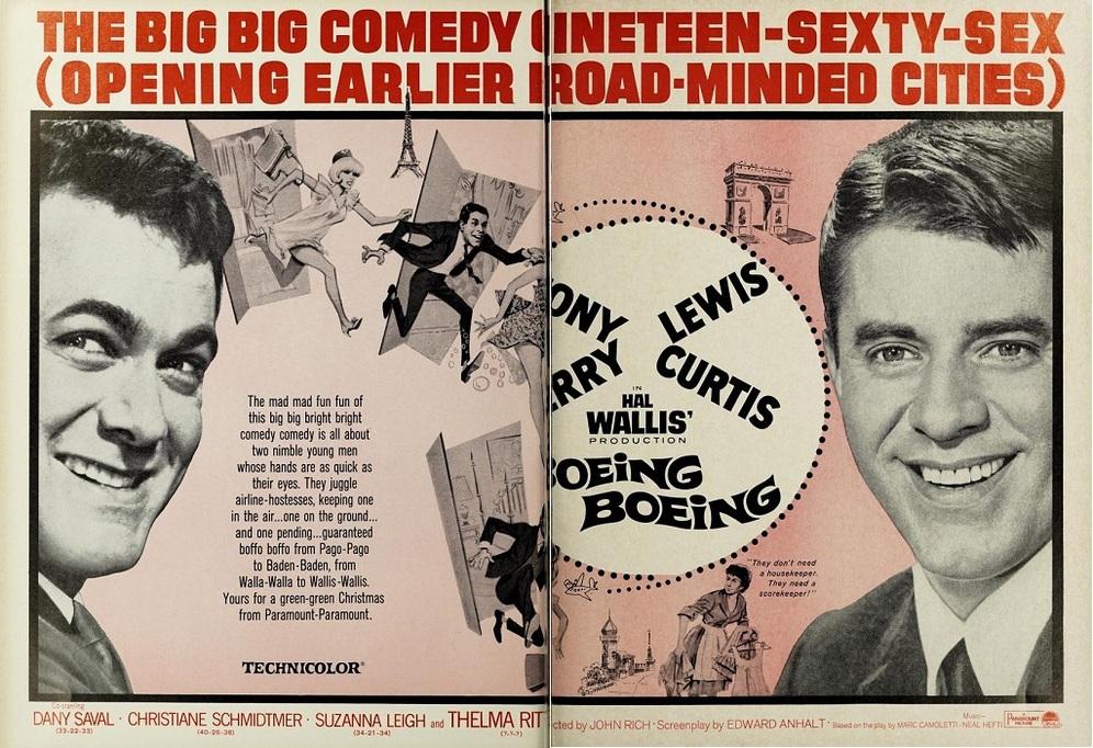 BOEING BOEING BOX OFFICE USA 1965