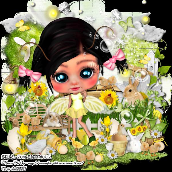 Spring Time for Little Cute Girl
