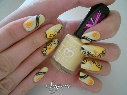 Nail Art Cocktail d'Arabesques