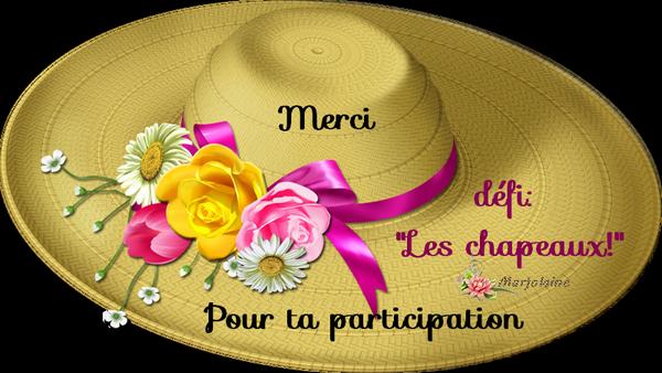 """Défi  """"les chapeaux"""""""