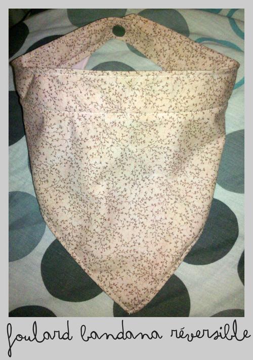 le foulard bandana polaire réversible