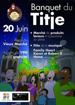 Banquet du Titje - 20 juin 2014 - Fête de la musique