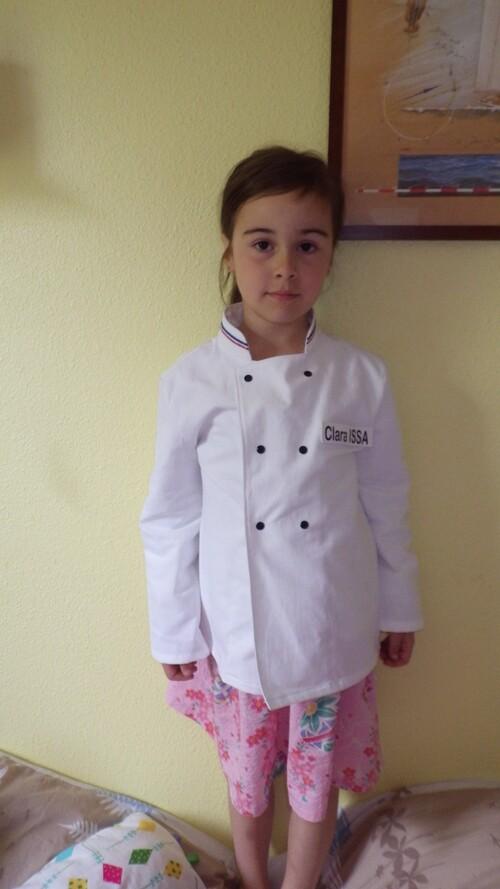 Une veste de cuisinière pour Clara