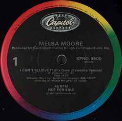 Melba Moore - I Can't Believe (It's Over)