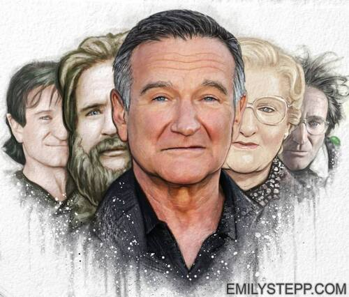 Hommage crayonné à : Robin Williams