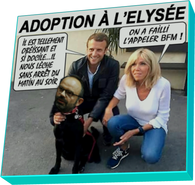 Le bon toutou des Macron (humour)