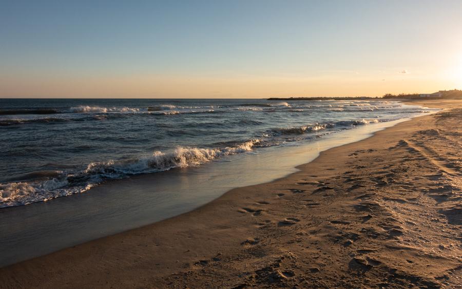 plages soleil couchant
