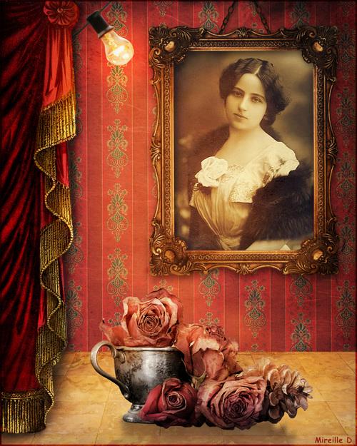 Portrait Romantique Vintage (Photomontage)
