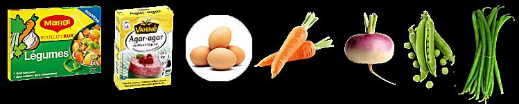 Aspic d'œuf et de légumes