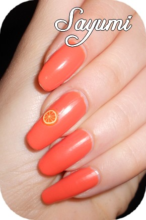 Orly - Old School Orange + fruit fimo
