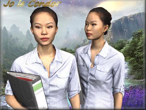 Duo asiatiques......En 3d