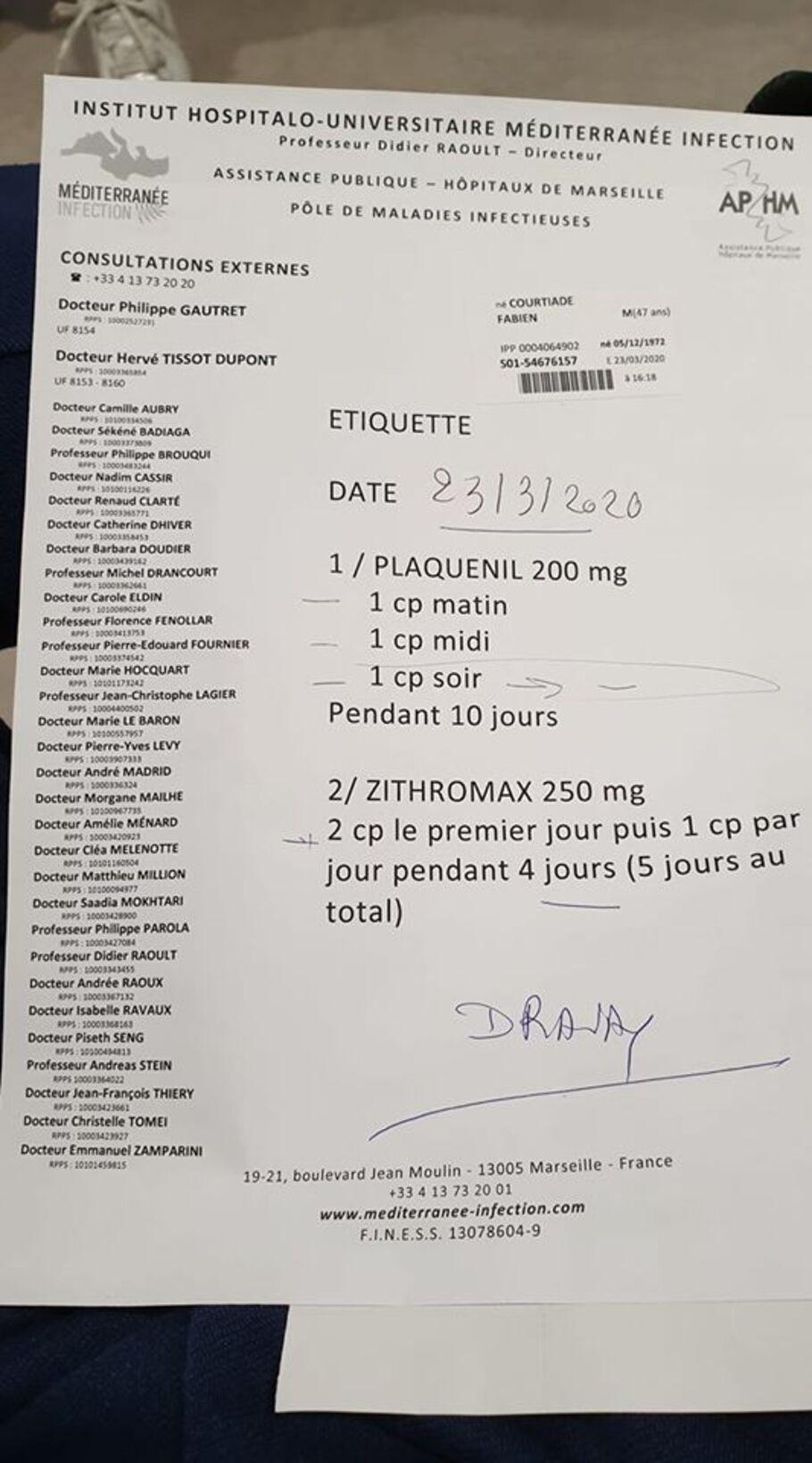 - Covid-19 et soins, le témoignage d'un malade guéri par le protocole Raoult !