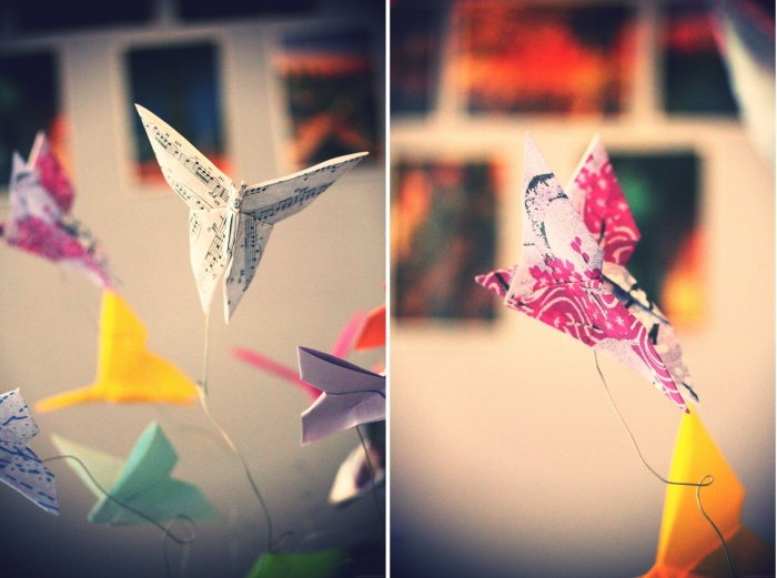 "Do It Yourself : Le mobile ""Envol de papillons"" {Origami}"