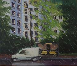 peinture sous la pluie