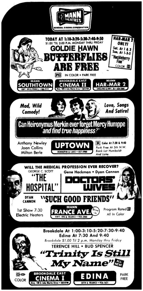 BOX OFFICE USA DU 20/07/1972 AU 27/07/1972