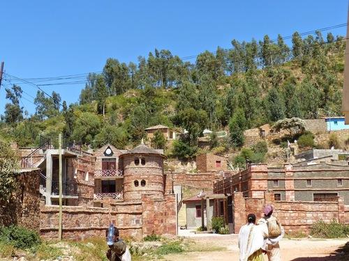 un village fortifié dans les environs d'Axoum