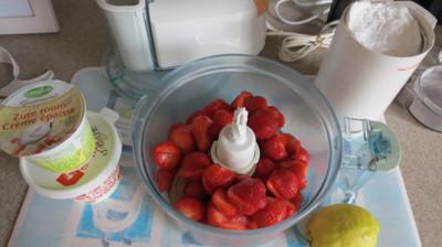 Blog de chacha : Les desserts de Chacha, Glace aux fraises