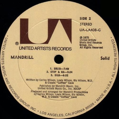 "1975 : Album "" Solid "" United Artists Records UA-LA408-G [ US ]"