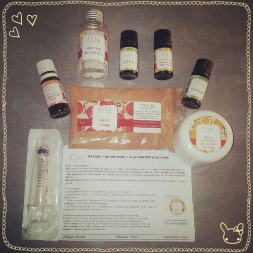 Masque Bonne mine à la Carotte & AHA - Test MyCosmetik