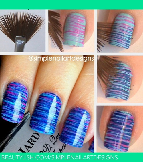 Tuto nail art images special mer