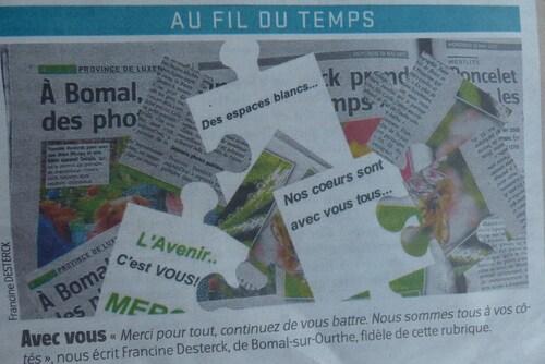 Deux photos éditées dans le journal