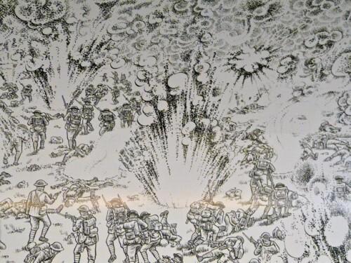 BD fresque Sacco métro Montparnasse 10909