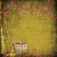 """Fond Automnale """" La Cueillette des Pommes """" de Magnolias"""